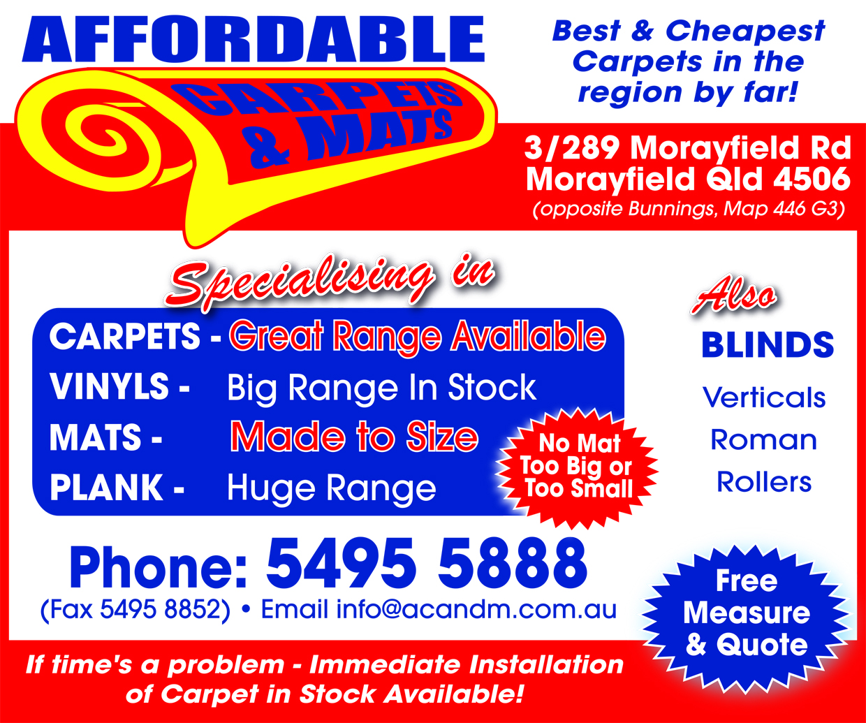 Affordable Carpets & Mats - advertisement