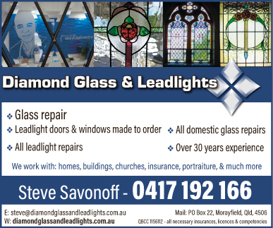 Diamond Glass & Leadlights - advertisement